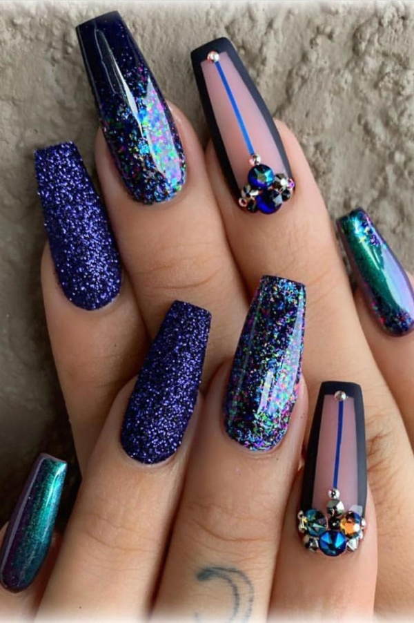 Beautiful Coffin Nail Art Designs To Try