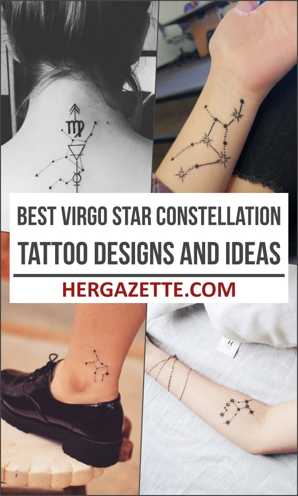 Best Virgo Star Constellation Tattoo Designs And Ideas