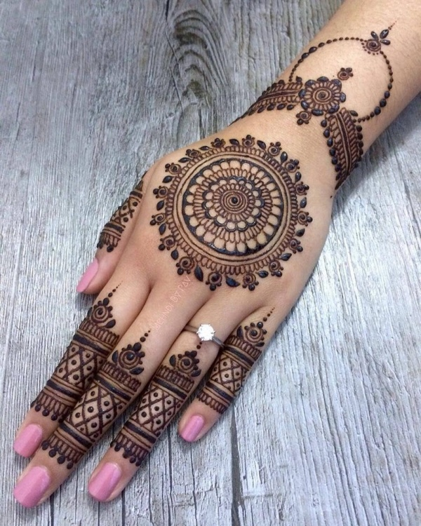 Simple And Easy Arabic Mehndi Designs For Left Hand