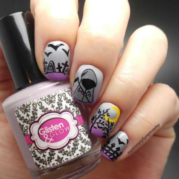 Simple and Easy Halloween Nail Art Designs For Women