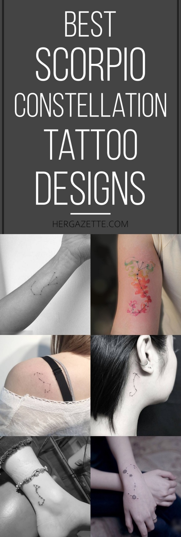 Best Scorpio Constellation Tattoo Designs